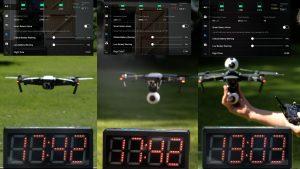 DJi Mavic Pro battery test with additional cameras