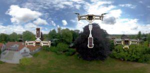 Insta360 One X on Mavic Air 2