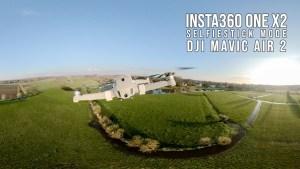 Insta360 OneX2 in selfie stick modus